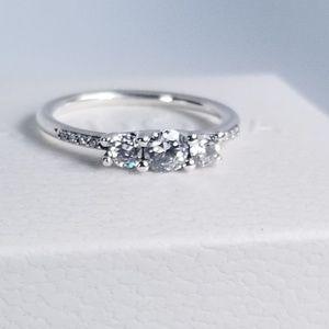 4ccda59d8 Pandora Jewelry   Fairytale Sparkle Ring Clear Cz Size 52   Poshmark